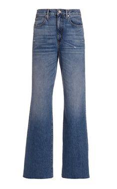 Grace Rigid High-Rise Wide-Leg Jeans By Slvrlake | Moda Operandi Geometric Fashion, Wide Leg Jeans, Bell Bottom Jeans, Organic Cotton, Vintage Fashion, Turtle Neck, Style Inspiration, Legs, Long Sleeve