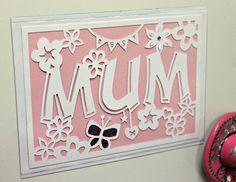 Mum fridge frame papercut #papercut #papercutter #papercutting #paperart #pink #mum #mom #mothersday #fridgeframe #swannmorton #scalpel #art #crafts #handmade #handdrawn #handcut