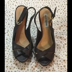 Beautiful Steve Madden brown sandals.  Sz 8 Check out these great Steve Madden brown shoes. Sz 8these shoes are in great shape.  Hardly worn. Steve Madden Shoes Sandals