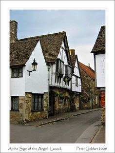 The Sign of the Angel - Lacock, Wiltshire - the village is owned almost entirely by the National Trust and many period dramas have been filmed here.