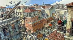 """""""Do you know the comic """"The Eagles of Rome"""" by Enrico Marini?  Scene here is a typical day in the life of Rome.... get it, I said 'scene' here.  ;-)"""" - V.L."""