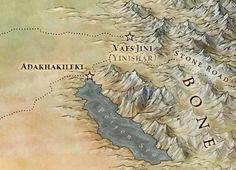 Map of Essos and Asshai | The Stone Road and The Red Waste from the Official Maps of A Song of ...