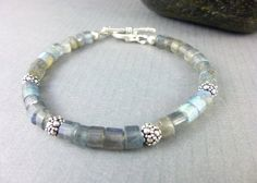 Labradorite Chakra Bracelet, cleansed and energy-activated by EarthEnergyGemstones on Etsy