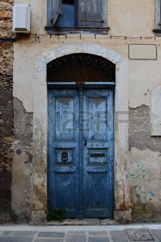 chania: Weathered door in the old town of Chania, Crete island