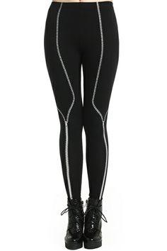 b9672dc7b008d Zipper Print Black Leggings. Description Leggings