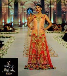 Tabassum Mughal Exclusive Bridal Summer Fashion Show 2014 2015 Pantene Bridal Couture Week