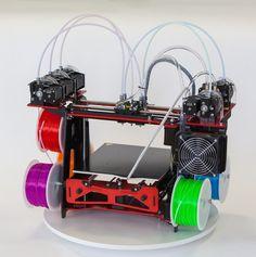 The RoVa3D 3D Printer & its FIVE all-metal hotend nozzles
