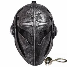 Tactical Airsoft Full Face Protection Templar Mask Game Mask Knight Mask Templar for Men Party Masks Horror Airsoft Gas Mask, Paintball Mask, Airsoft Helmet, Tactical Helmet, Paintball Guns, Knights Helmet, Armadura Medieval, Half Face Mask, Face Men