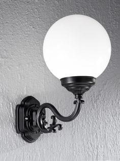EXT6591 Rotondo Italian wall light large, black aluminium Italian die-cast aluminium matt black exterior fitting with opal polycarbonate spheres. Height- 460mm Width- 250mm Projection- 440mm BRAND- Franklite REFERENCE- EXT6591 DISPATCH- 1-2 Days (subject to availiability)