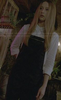 Zoe's leather overalls on American Horror Story
