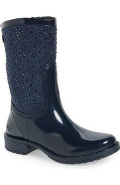 42acbfdb04bc82 Posh Wellies  Cerussite  Crystal Embellished Rain Boot (Women)