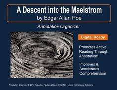 """➡ UPDATED WITH NEW ADDED FEATURES ⚡  """"A Descent into the Maelstrom"""" by Edgar Allan Poe is part of our Short Story Annotation Series designed to improve annotation skills, bolster reading comprehension, and cultivate literary appreciation."""