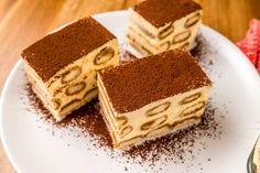 Tiramisu recept: A tiramisu receptje a 17. században született. Cosimo de Medici, Toszkána Granduca-ja egy alkalommal Siena-ban járt és az ottani cukrász illő módon szeretett volna kedveskedni neki, ezért alkotott egy édességet. Mi pedig most képekkel mutatjuk be ennek az alkotásnak, a tiramisunak a receptjét! :) Diet Recipes, Cake Recipes, Dessert Recipes, Dessert Ideas, Hungarian Recipes, Sweets Cake, Gluten Free Diet, Food Cakes, A 17