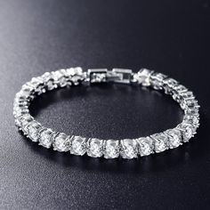 Round Cut Cubic Zirconia Bracelet Bangle (More Colors Available) Bangle Bracelets, Bangles, Bridal Fashion Week, Colorful Bracelets, All About Fashion, Stone Beads, Ring Earrings, Womens Fashion, Style Fashion