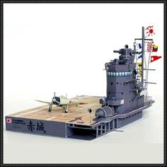 WWII Aircraft Carrier Akagi Diorama Free Papercraft Download - http://www.papercraftsquare.com/wwii-aircraft-carrier-akagi-diorama-free-papercraft-download.html