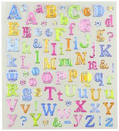 I purchased these letter stickers to help teach my five-year old her letters. She loves stickers and so these were the perfect incentive for her to work on her spelling skills. Emoji Stickers, Craft Stickers, Love Stickers, Scrapbook Letters, Scrapbook Stickers, Patterned Sheets, Kits For Kids, Fuse Beads, Rainbow Loom