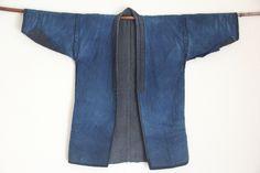 Vintage+Japanese+reversible+indigo+hanten+jacket