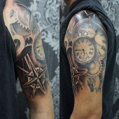 Tattoo reloj engranajes