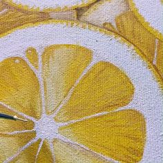 My painting of Lemon slices. Nice kitchen wall decor for your walls or cute gift for a friend! You can buy this painting in my Etsy shop Lemon Painting, Lemon Watercolor, Plant Painting, Fruit Painting, Painting & Drawing, Lemon Pictures, Lemon Art, Nice Kitchen, Indie