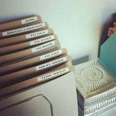 How To: Organise Your Office // For our quick and easy organisation tips click here: http://thestylenet.net/parents-club/2012/07/09/lets-get-organised-office
