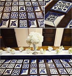 Spanish Style Escort Cards - This what you were thinking for table names/numbers, Jess?