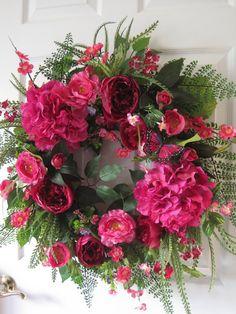 Spring Wreath Mothers Day Wreath Summer Wreath Front Door