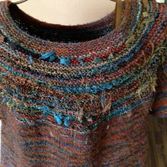 Ravelry: Project Gallery for Sagaponack Tee pattern by Therese Chynoweth, free pattern.  Use handspun with some flair