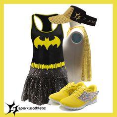 Batgirl Inspired Running Costume Disney Half Marathon, Running Race, Running Costumes, Batgirl, Halloween Fun, Athletic, Superhero, Fitness, Sparkle