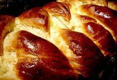 Foszlós vaníliás kalács Challah, French Toast, Good Food, Food And Drink, Favorite Recipes, Bread, Baking, Breakfast, Sweet