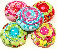 {Happy} Pincushions | Flickr - Photo Sharing! Holland House Fabrics.  Perfect gift for the sewist in your life.