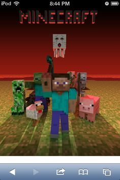 A Minecraft Related Pic Featuring Steve Chicken Pig Ghast Skeleton Zombie