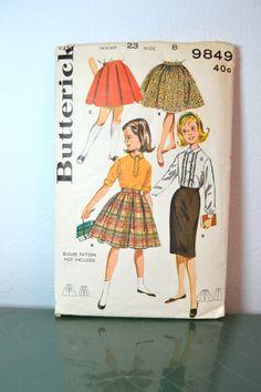 1960s Vintage Butterick Pattern 9849 Girls by TabbysVintageShop, $8.00