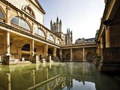Bath, England UK. Visit the grand Royal Crescent and Bath's spectacular abbey, then unwind in Thermae Bath Spa, the only natural thermal spa in Britain. Pride and Prejudice fans take note: Jane Austen lived in Bath for many years, and much of her work was inspired by her time here.