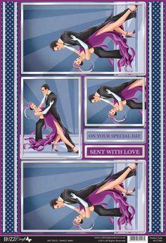 Buzzcraft Art Deco die cut toppers - Dance Away