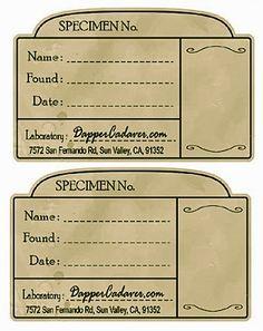The Boho Bird: Printable Vintage Apothecary Labels