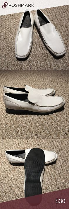 White Aldo Mens loafers Excellent condition, never worn outside. Scuff on one side as pictured. Aldo Shoes Loafers & Slip-Ons
