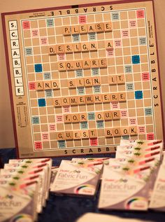 9 awesome ways to add Scrabble to your wedding day   Offbeat Bride