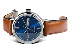The new Christopher Ward Malvern Chronometer watch with images, price, background, specs, & model history from the brand. Cw Watches, Watches For Men, Dress Watches, Female Watches, Christopher Ward, Blue Plates, Trends, Omega Watch, Mens Fashion