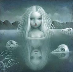 Made by: Nicoletta Ceccoli , beautiful nightmares - (Woman in water)