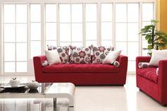 Sofa Set For Living Room broheim living room sofa set modern-living-room MOBPNQQ Living Room Red, Living Room Sofa, Living Room Furniture, Home Room Design, Living Room Designs, Sofa Design, White Sofa Set, Red Interior Design, Rustic Sofa
