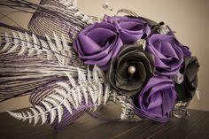 Flax Flowers Bride Bouquets, Flower Bouquet Wedding, Flax Weaving, Flax Flowers, Buttonholes, Purple Wedding, Flower Decorations, Fascinator, Flower Arrangements