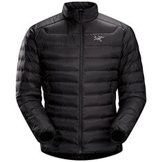 Wear this Arcteryx Cerium LT Jacket when you go hiking or camping in the mountains to keep warm.   Down Composite Mapping strategically places synthetic insulation in areas prone to moisture and down where you need the most warmth Lightweight yet durable face fabric with DWR finish repels moisture The higher, insulated collar with chin guard provides extra warmth and blocks wind without scratching your precious chin Two zippered hand pockets for hiding your secrets Low profile, elasticized…