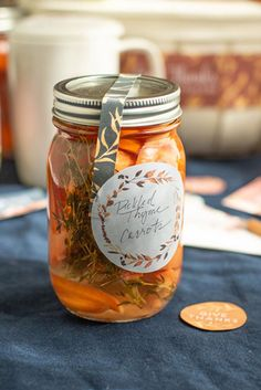 Create beautiful jar labels for the Fall & Thanksgiving season with this free printable label template.