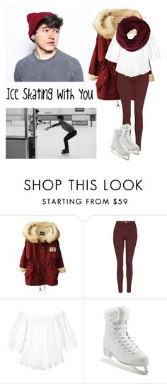 """""""Ice Skating With JC Caylen"""" by fans-polyvore ❤ liked on Polyvore featuring mode, Topshop, Rebecca Taylor, Artistique, BCBGMAXAZRIA, love, ice, o2l, skating et jccaylen"""