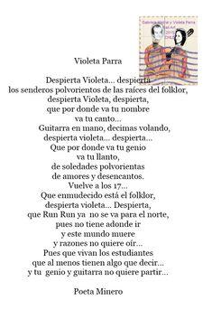 Gabriela Mistral y Violeta Parra: VIOLETA PARRA - NELSON CARRIZO MUÑOZ (Chile)