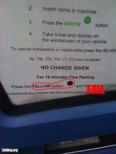 Parking Ticket Machine - Let's not even mention the accessibility fail...