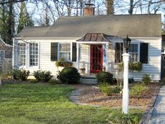 Yellow and grey cottages google search all things cottage style pinterest grey decks for Exterior painting greensboro nc