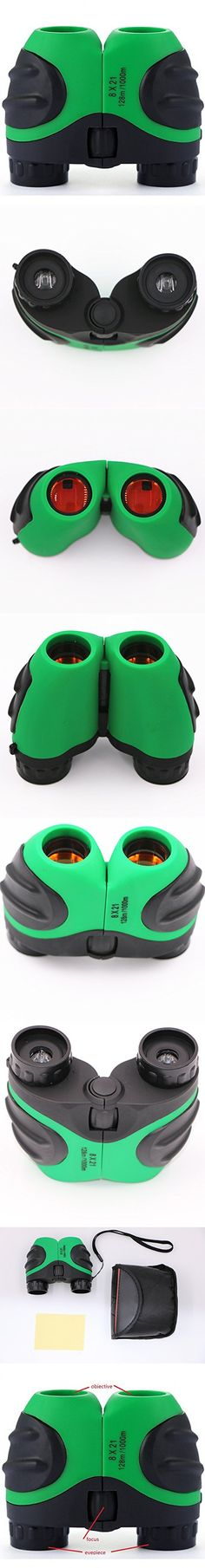 Fvstar Kids Binoculars Pocket Size Compact 8 X 21 for Bird Watching, Watching Wildlife or Scenery,Lightweight,Waterproof and Fogproof for Xmas New Year Gifts (Green)