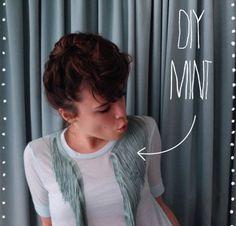 DIY / Le tee Mint à franges sur http://www.thetrendygirl.net