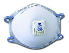 3M Respirador desechable contra partículas con válvula y sello facial 8271 P95